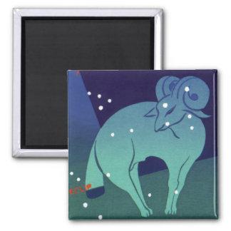 Zodiaco del vintage, constelación del espolón del iman para frigorífico