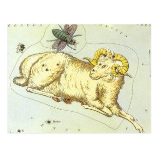 Zodiaco del vintage, constelación del espolón del postal