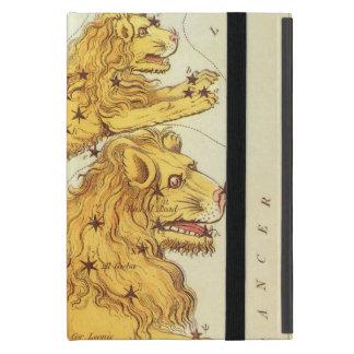 Zodiaco del vintage, constelación del león de Leo iPad Mini Fundas