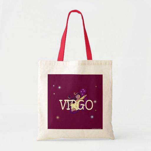 Zodiaco del virgo bolsa lienzo