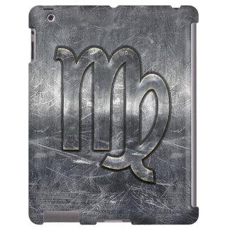Zodiaco del virgo en estilo apenado plata funda para iPad