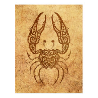 Zodiaco envejecido vintage del cáncer postales
