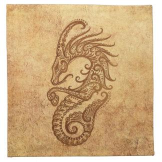 Zodiaco envejecido vintage del Capricornio Servilletas