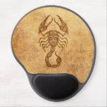 Zodiaco envejecido vintage del escorpión alfombrilla de ratón con gel