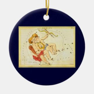 Zodiaco gemelo de la constelación de los géminis d adorno de navidad
