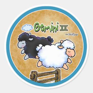Zodiaco - géminis etiquetas redondas