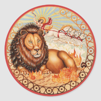 ¡Zodiaco Leo - modifiqúelo para requisitos Etiqueta Redonda