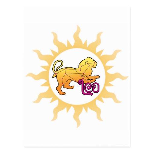 Zodiaco Leo Sun Postales