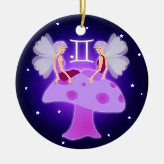 Zodiaco lindo de los géminis ornamente de reyes