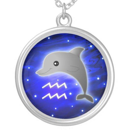 Zodiaco lindo del acuario colgante redondo
