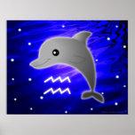 Zodiaco lindo del acuario impresiones