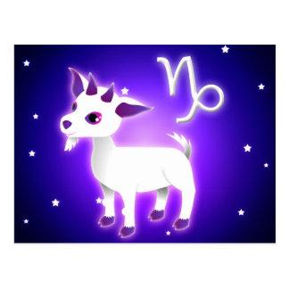 Zodiaco lindo del Capricornio Tarjetas Postales