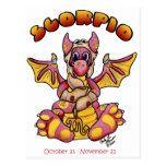 zodiaco lindo del dragón del bebé del escorpión postales