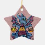Zodiaco lindo del dragón del bebé del ornamento de adorno para reyes