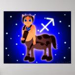 Zodiaco lindo del sagitario posters