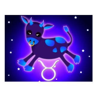 Zodiaco lindo del tauro tarjetas postales