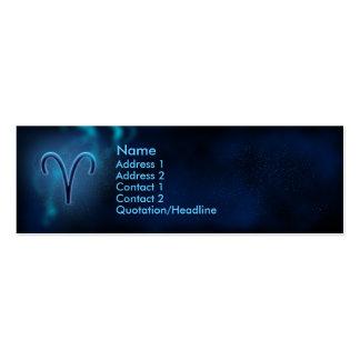 Zodiaco místico - aries plantilla de tarjeta de visita