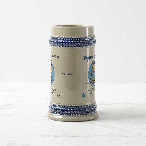 Zodiaco - muestra del acuario jarra de cerveza