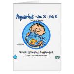 Zodiaco - muestra del acuario tarjetas