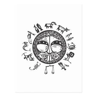 Zodiaco primitivo occidental #1 tarjeta postal