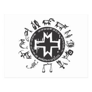 Zodiaco primitivo occidental #2 tarjetas postales