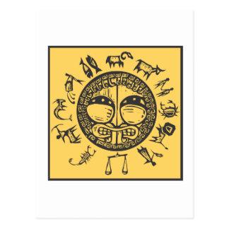 Zodiaco primitivo occidental #4 postal