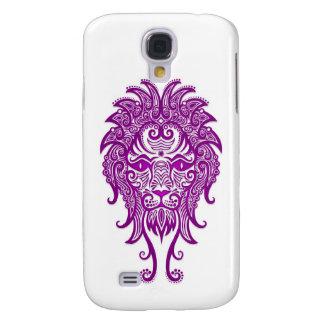 Zodiaco púrpura complejo de Leo en blanco Funda Para Galaxy S4