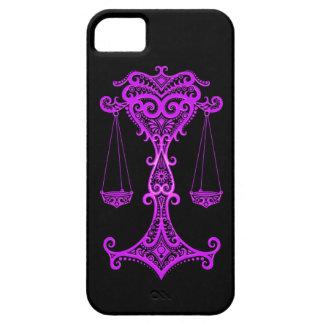 Zodiaco púrpura complejo del libra en negro iPhone 5 Case-Mate fundas