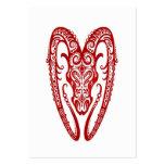 Zodiaco rojo complejo del aries en blanco tarjetas de negocios