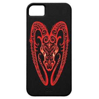 Zodiaco rojo complejo del aries en negro iPhone 5 Case-Mate cárcasas