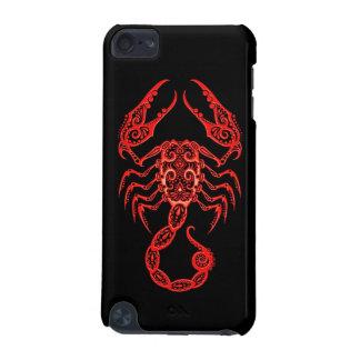 Zodiaco rojo complejo del escorpión en negro carcasa para iPod touch 5G