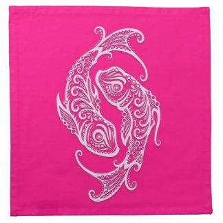 Zodiaco rosado complejo de Piscis Servilletas De Papel