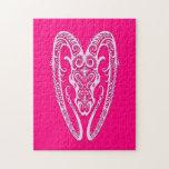Zodiaco rosado complejo del aries puzzles con fotos