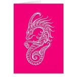 Zodiaco rosado complejo del Capricornio Tarjeta