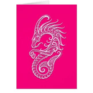 Zodiaco rosado complejo del Capricornio Tarjeta De Felicitación