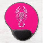 Zodiaco rosado complejo del escorpión alfombrilla de raton con gel