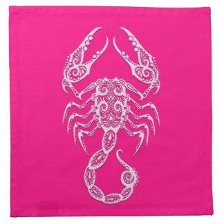 Zodiaco rosado complejo del escorpión servilletas