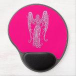Zodiaco rosado complejo del virgo alfombrillas de ratón con gel