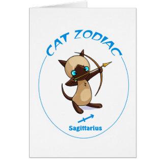 Zodiaco Saggitarius del gato Tarjeta Pequeña