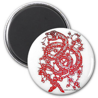 Zodiaco Serpiente-Chino Imán Redondo 5 Cm