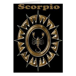 zodiaco tarjeta de felicitación