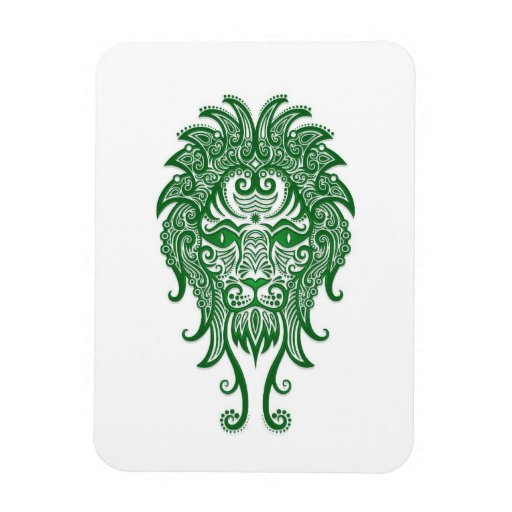 Zodiaco verde complejo de Leo en blanco Imán Rectangular