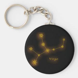 Zodiaco - virgo llavero redondo tipo pin