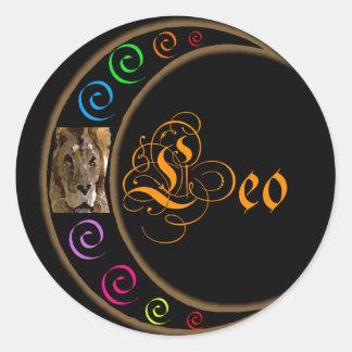 Zodiacos de Celestrial - Leo Pegatina Redonda