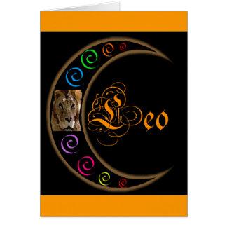 Zodiacos de Celestrial - Leo Tarjeta De Felicitación