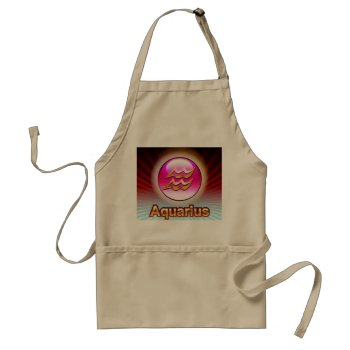 Zodiak Aquarius 1/20=2/18   Chefs Apron by creativeconceptss at Zazzle