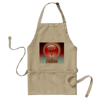 Zodiak Aries  3/21-4/19  Chefs Apron by creativeconceptss at Zazzle