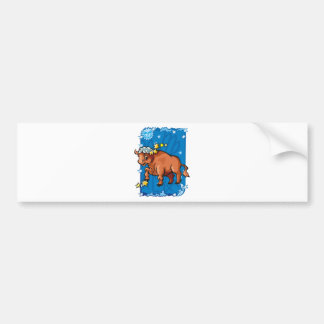 zodiak etiqueta de parachoque