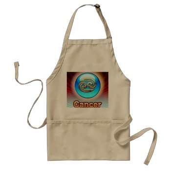 Zodiak Cancer 6/22-7/22 Chefs Apron by creativeconceptss at Zazzle