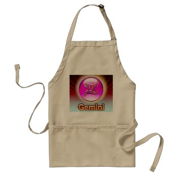 Zodiak Gemini  5/21-6/21 Chefs Apron by creativeconceptss at Zazzle